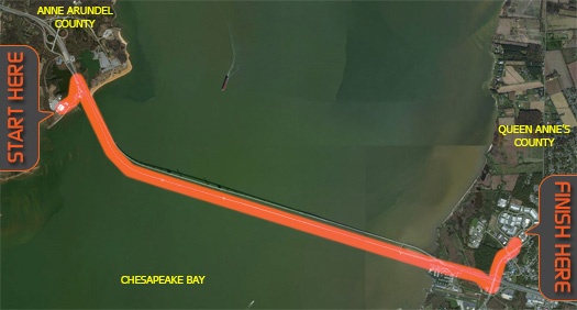 The Race Will Start On The Western S Near The Chesapeake Bay Bridge